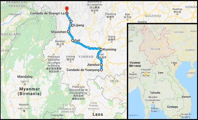 Ruta por Yunnan 500x302 - Organized trip to Yunnan: 12 days in China with driver and guide