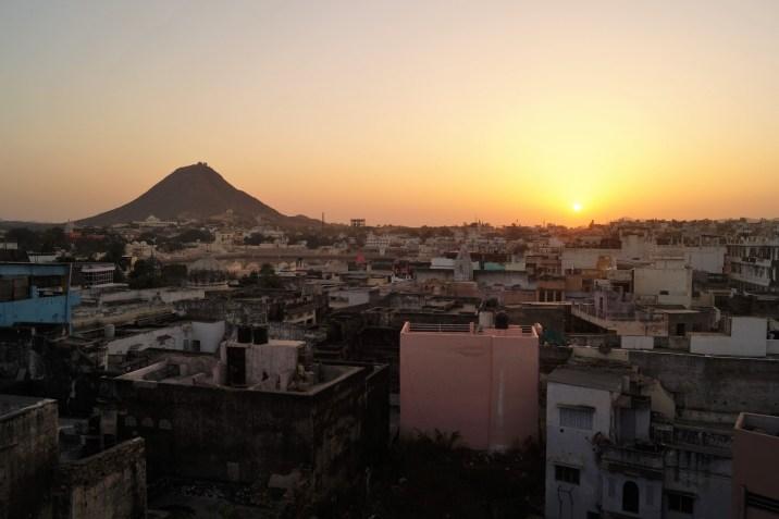 Pushkar - Anochecer sobre Pushkar