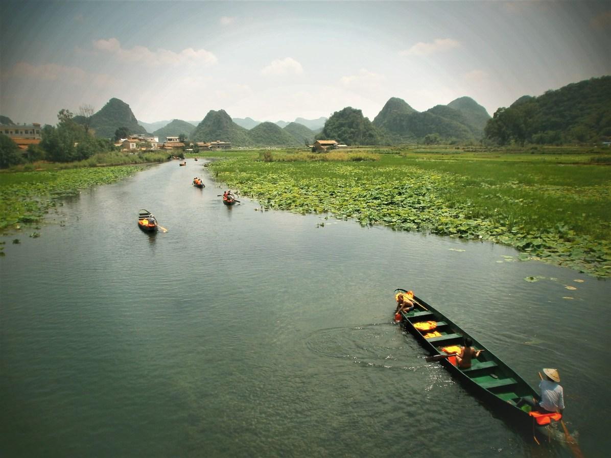 Viaje a Yunnan Paseo en barca por Puzhehei - Puzhehei, visitando el paisaje kárstico de Yunnan