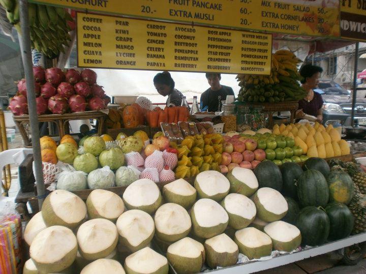 Tailandia Bangkok Puesto de frutas 1 - Top places to see in Bangkok in 2-3 days