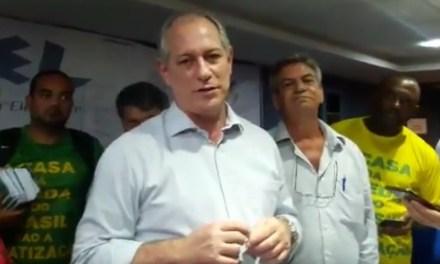Ciro Gomes se posiciona contra privatização da CMB