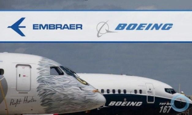 Boing fica com 51% da Embraer