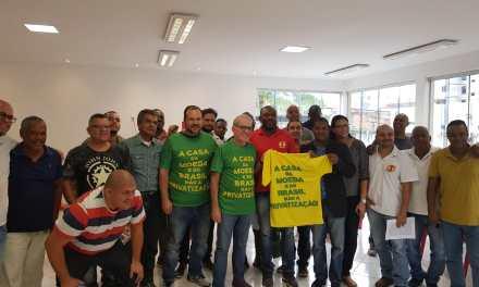 O Deputado Federal Chico D'Angelo (PDT-RJ) foi à sede do Sindicato dos Moedeiros falar da PEC 390