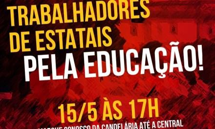 Ato em defesa da Educação brasileira, contra privatização e reforma da previdência