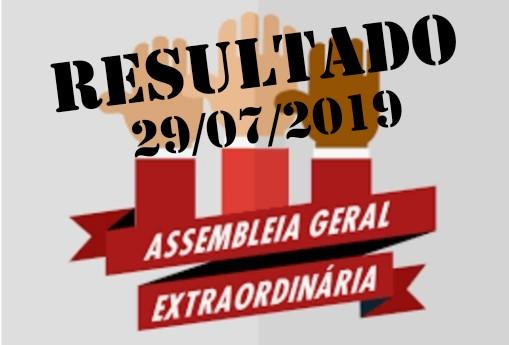 Resultado da Assembleia geral extraordinária, sobre PDV, em 29/07/2019