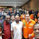 Representantes do SNM participam do Ato pela Soberania Nacional e Popular