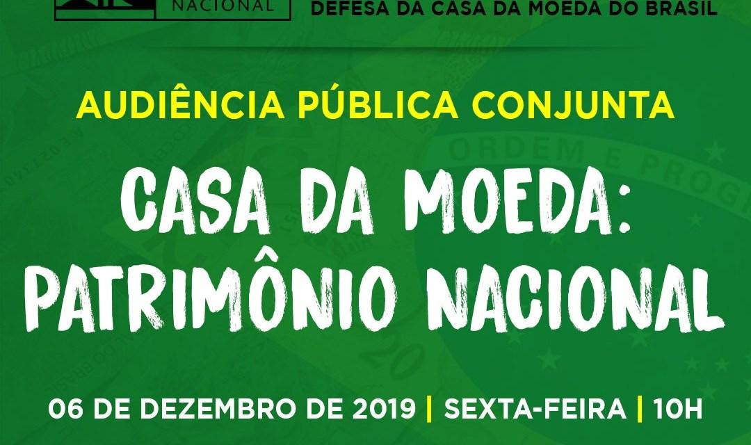 Convocação para audiência pública na Alerj: Casa da Moeda Patrimônio Nacional