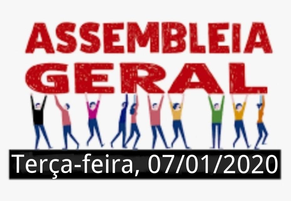 EDITAL DE CONVOCAÇÃO  ASSEMBLEIA GERAL EXTRAORDINÁRIA PARA O DIA 07/01/2020