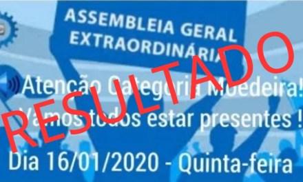 RESULTADO DA ASSEMBLEIA GERAL EXTRAORDINÁRIA REALIZADA EM 16/01/2020 SOBRE ACT/2020
