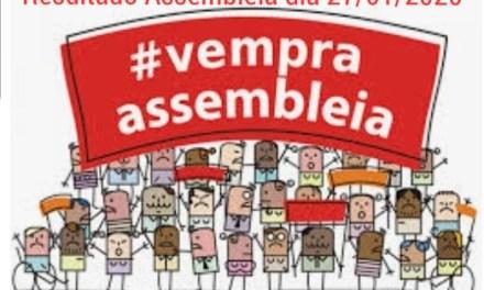 RESULTADO DA ASSEMBLEIA GERAL EXTRAORDINÁRIA DO DIA 27/01/2020