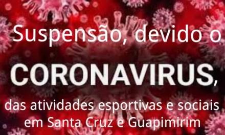 Suspensão de todas as atividades esportivas e sociais na Sede em Santa Cruz e em Guapimirim
