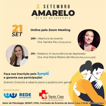 SETEMBRO AMARELO – CAMPANHA DE PREVENÇÃO AO SUICÍDIO