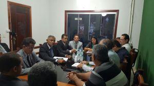Reunião na Câmara Municipal de Redenção