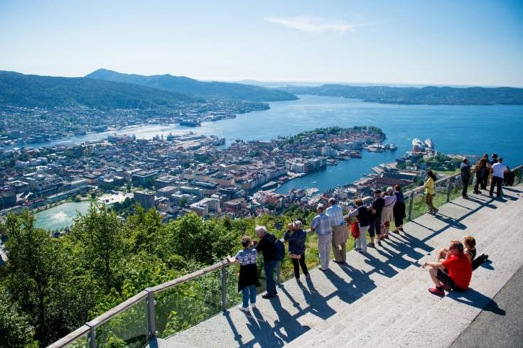 Floyen-in-Bergen-Norway