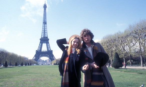 douglas adams doctor who tom baker lalla ward romana paris