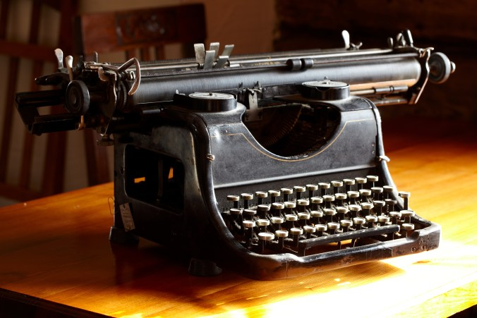 Old black vintage typewriter