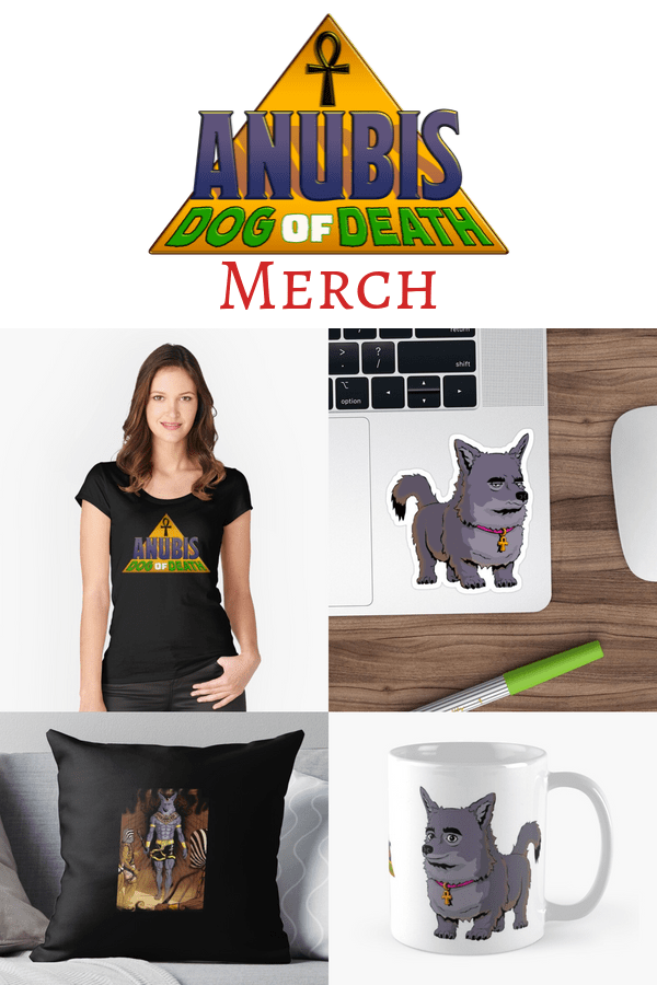 anubis dog of death merch