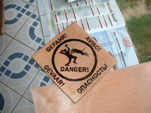 Türschild Vorsicht Hund