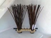 Bambus Gesteck 2er mit Teelicht