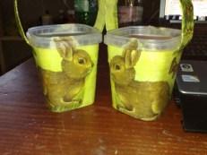 Osterkoerbchen mit Osterhaeschen