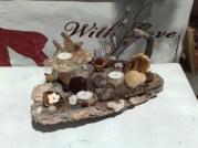 Strandgut Holz mit Teelicht