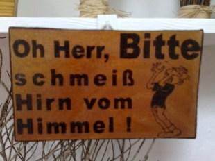 Oh Herr Holz Schild