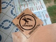 Vorsicht Hund Schild