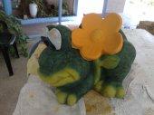 Gartenfigur Frosch restauriert