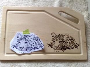 Schneidbrett Leopard