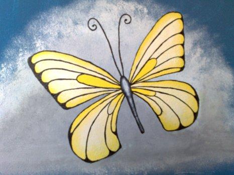 Schmetterling Wandmalerei