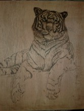 Brandmalen Tiger