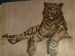Brandmalerei Tiger