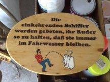 lustiges Holz Schild Schiffer