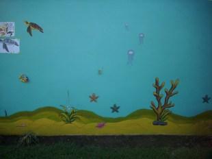 Wandmalerei Ozean