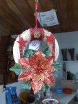 Weihnachtkranz Rot 15cm Ø