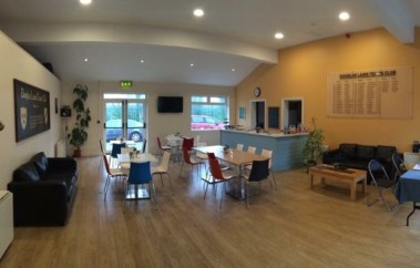 Douglas Tennis club redesign- new lighting, furniture, counter, colours