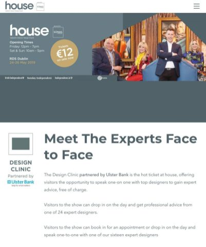 RDS HOUSE 2019- IA -Design Clinic-meet the experts