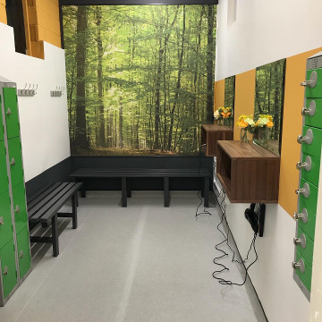 ATP gym refurbisgment with forest wall mural