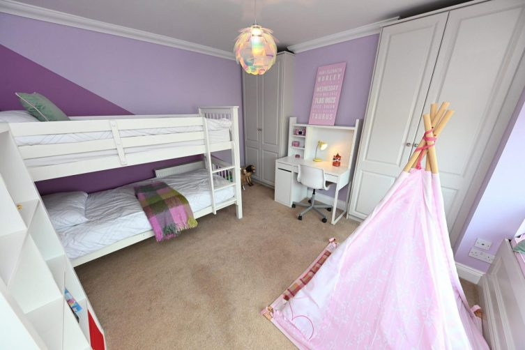 Childs bedroom design in Pantone Lavender