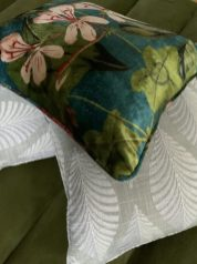Botanical-floral-scatter-cushions-with-light-grey-palm-leave-cushions-scaled