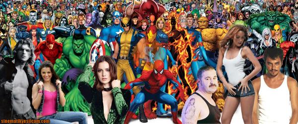 Türk Süper Kahramanlar banner Marvel ve DC