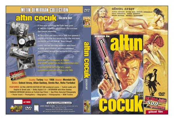 Onar Films tarafından piyasaya sürülmüş dvd  kapağı