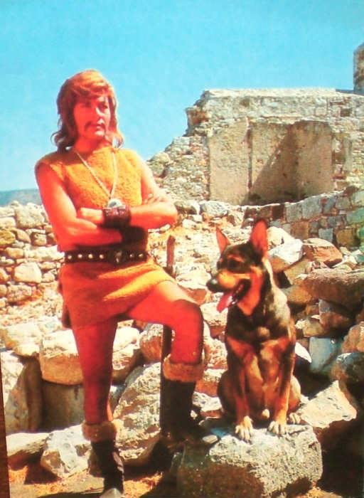 Tarkan ve Kurt - Serideki filmlerinden birisi için hazırlanmış kartpostal