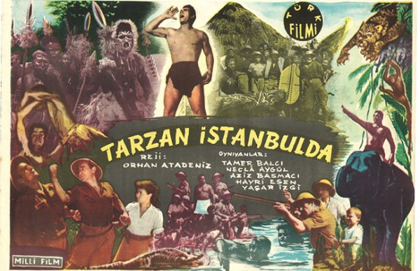 Tarzan İstanbul'da 1952-afiş