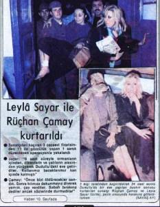 Polenezköy'de gizemli kaçırma!: 40 yıl önce gündemi meşgul eden Leyla Sayar ve Rüçhan Çamay, silahlı üç kişi tarafından kaçırılma hikayesi küpür 2