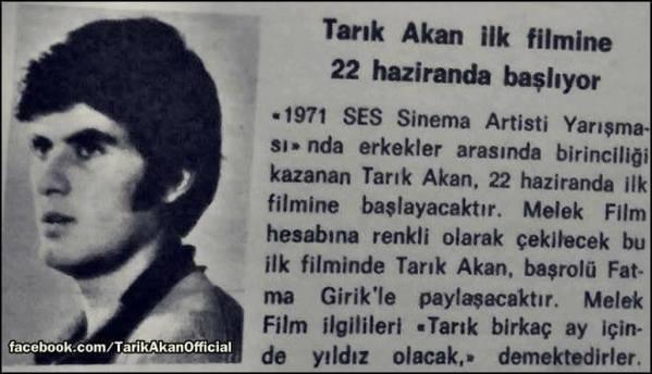 1 Temmuz 1971... Tam 49 yıl önce... Murat Hattatoğlu, Tarık Akan 'ın ağzından ilk filminde neler yaşadığını anlatıyor .....