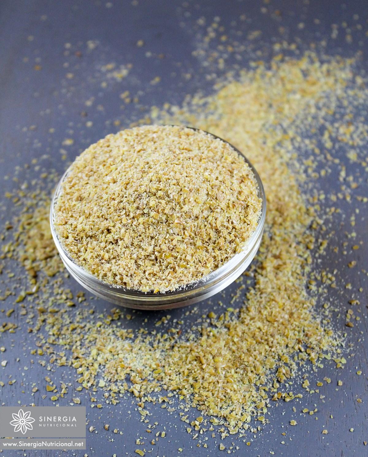 Semillas de lino (doradas) molidas