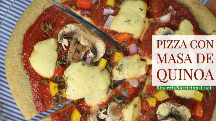 Receta: Pizza con masa de quinoa