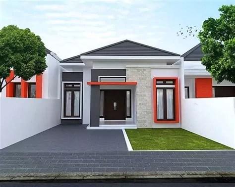 desain rumah minimalis type tampak depan lantai
