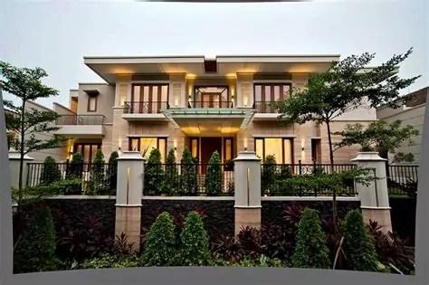 inspirasi tampak depan rumah minimalis bermaterial batu alam